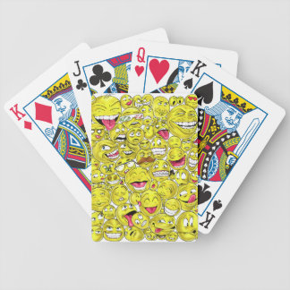Emoticons Bicycle Playing Cards