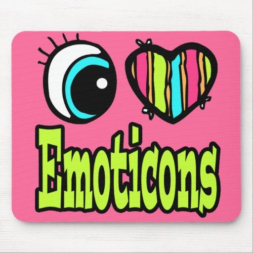 Emoticons brillantes del amor del corazón I del oj Tapetes De Ratón