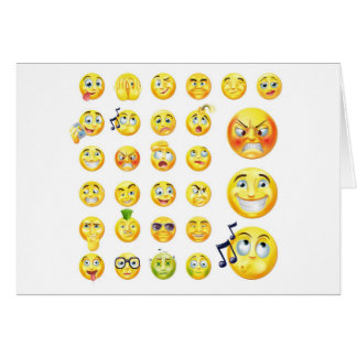 Emoticons Greeting Cards