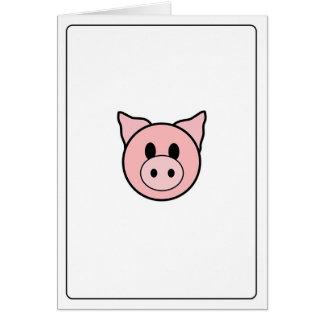 Emoticons - Customizable Pig Card