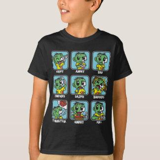 Emoticons del zombi playera