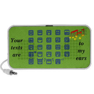 Emoticons del zzzZZ de la onomatopeya iPod Altavoces