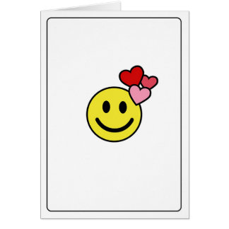 Emoticons - Love You! Card