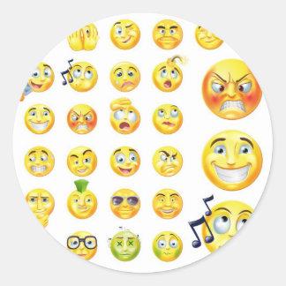 Emoticons Etiquetas Redondas