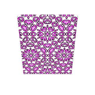 Emoticons púrpuras divertidos del dolor impresión en tela
