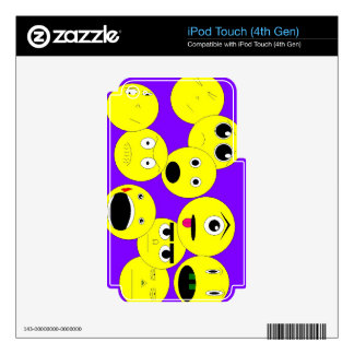 Emoticons iPod Touch 4G Skins