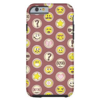 Emoticons Sugar Cookie Pattern Tough iPhone 6 Case
