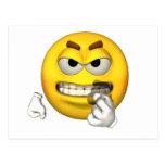 Emotion Guy - Baring Teeth Postcard