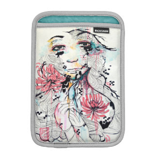 Emotional abstract portrait pop surrealism art iPad mini sleeve