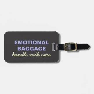 Emotional Baggage: Handle With Care- Purple Yellow Bag Tag