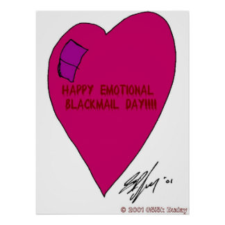 Emotional Black Mail Day Poster