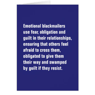 Emotional abuse cards greeting photo cards zazzle emotional blackmailers use fear obligation card m4hsunfo
