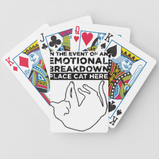 EMOTIONAL BREAKDOWN CAT BICYCLE PLAYING CARDS
