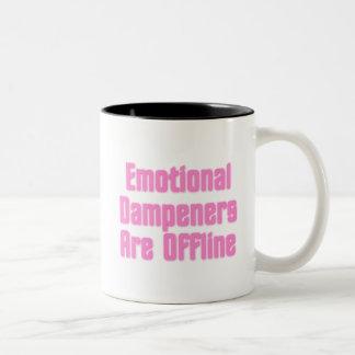 Emotional Dampeners Are Offline Two-Tone Coffee Mug