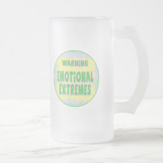 Emotional Extremes Funny T-shirts Gifts 16 Oz Frosted Glass Beer Mug