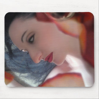 Emotional Free Fall - Self Portrait Mouse Pads