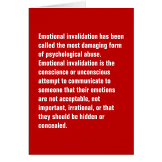 Emotional Invalidation Has Been Called … Card