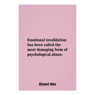 Emotional Invalidation Has Been Called … Poster