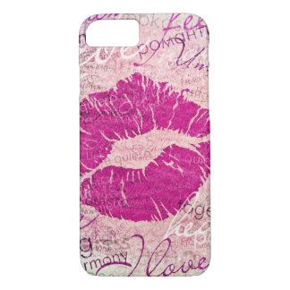 emotional kiss pink iPhone 8/7 case