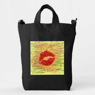 emotional kiss red duck bag