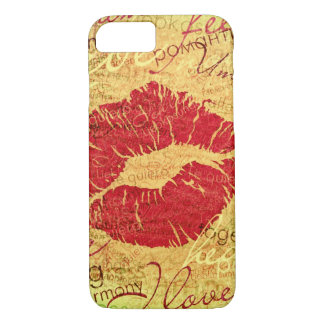 emotional kiss red iPhone 8/7 case