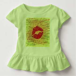 emotional kiss red toddler t-shirt