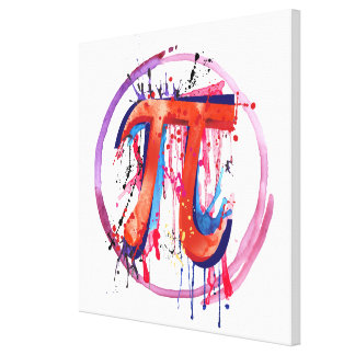 Emotional Pi, Action Painting Art Canvas Print
