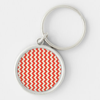 Emotional Poised Discreet Transformative Silver-Colored Round Keychain
