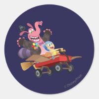 Emotional Roller Coaster Classic Round Sticker