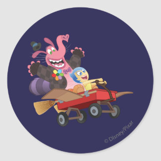 Emotional Roller Coaster Classic Round Sticker