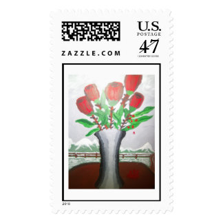 emotional roses art postage
