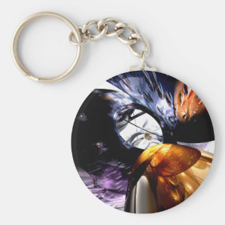 Emotional Scars Abstract Keychain