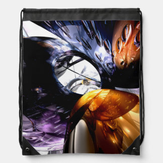 Emotional Scars Abstract Cinch Bags