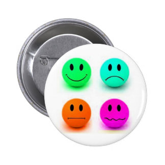 Emotional Smiley Faces 2 Inch Round Button
