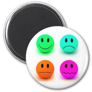 Emotional Smiley Faces 2 Inch Round Magnet