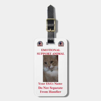 Emotional Support Animal Identification Luggage Ta Luggage Tag
