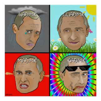 Emotional Vladimir Putin Poster