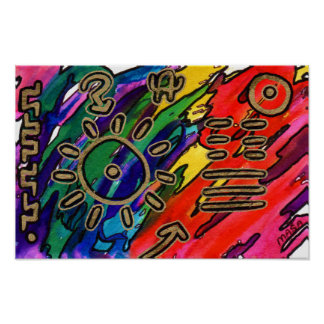 Emotional Weather Map Abstract Art Poster