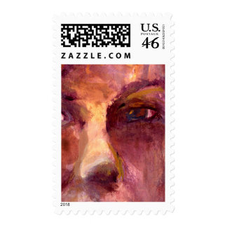 Emotional Woman's Face Postage