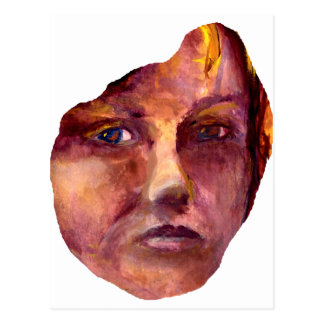 Emotional Woman's Face Post Card
