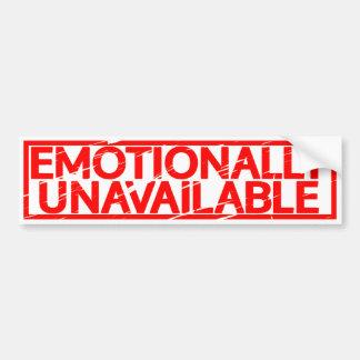 Emotionally Unavailable Stamp Bumper Sticker