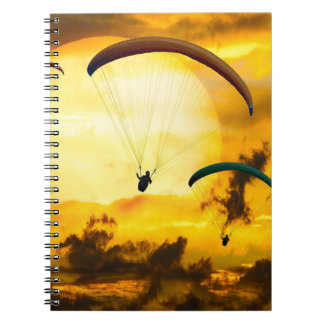 Emotions Adventure Fly Parachute Paragliding Notebook