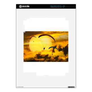 Emotions Adventure Fly Parachute Paragliding Skin For The iPad 2