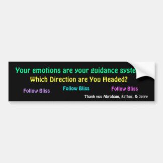 Emotions Are Guidance Bumper Sticker