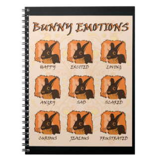 EMOTIONS - BLACK SPIRAL NOTEBOOKS