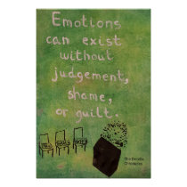 Emotions Can Exist Without Judgement - Hedgehog Poster