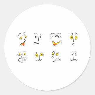 emotions classic round sticker