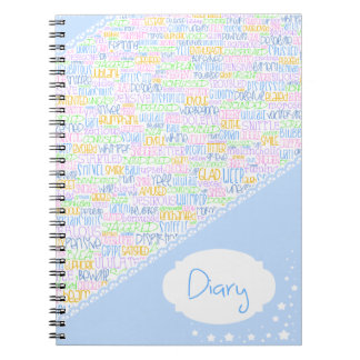 Emotions diary spiral note books