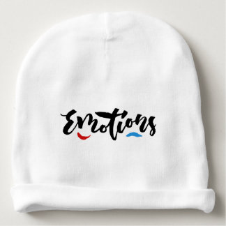 Emotions - Hand Lettering Design Baby Beanie