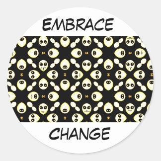 Emotions,Smile_ Round Sticker